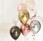 Fabs World ballonnen set Happy birthday metallic