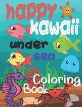 happy kawaii under sea coloring book