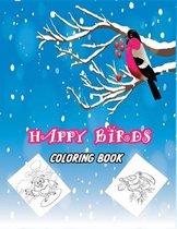 Happy Birds Coloring Book