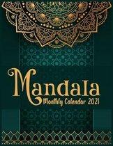 Mandala Monthly Calendar 2021