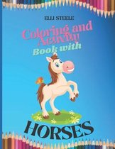 Coloring and Activity Book with Horses