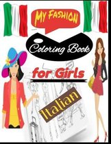 My Fashion Coloring Book for girls Italian