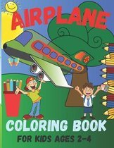 Airplane coloring book for kids ages 2-4