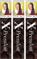 X-Pression Ultra Braid Vlechthaar #4 - Voordeelverpakking 3 Stuks