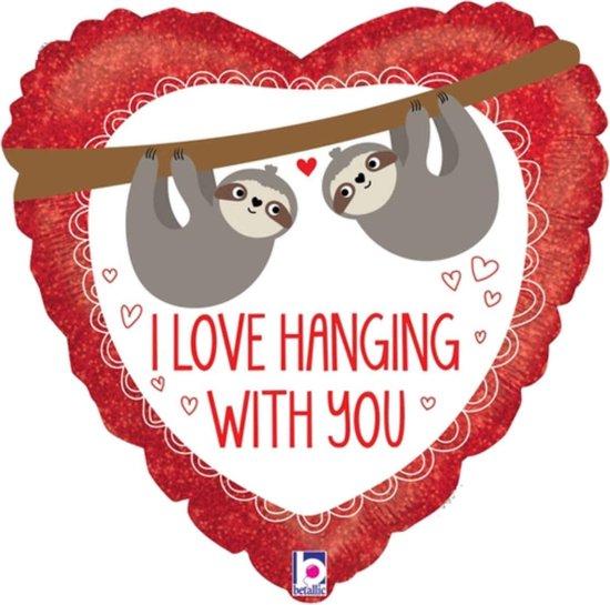 I love hanging with you - Liefdes helium ballon - Gevuld met helium