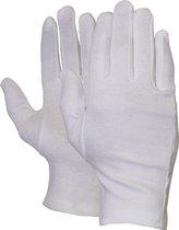 Majestic Handschoen Interlock wit 100% katoen maat 10 (set 12 paar)