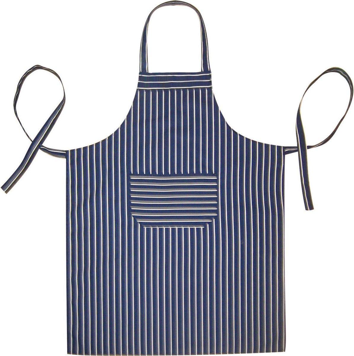 Homéé® Horeca suite Keukenschorten BBQ BIB Apron - blauwe streep - 70x100 cm - 2 stuks