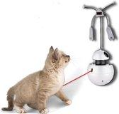 Motta4U Interactieve Kattenbal met laser- Interactief Kattenspeelgoed- Kattenspeeltjes- Bewegende Katten laser met trilfunctie- Automatisch rollende bal-  Inclusief bijgeleverde batterijen en speeltje- Wit