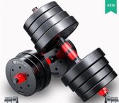 Bol.com-Halterset Dumbbellset  Dumbells Totaal 30kg   2x 15kg - dumbells-aanbieding