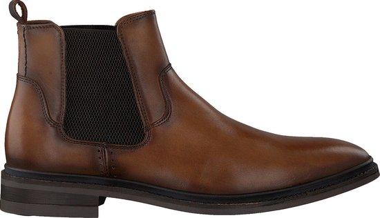 Mazzeltov Heren Chelsea boots Mburgo603 - Cognac - Maat 43