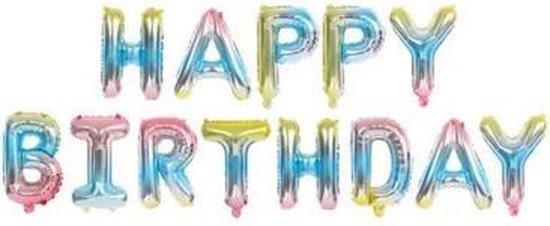 Happy Birthday Ballonnen - Mermaid- 40cm p.s. - Folie Ballon - Thema Verjaardag - Feest - Ballonnen set - Slinger - Versiering - Helium ballon