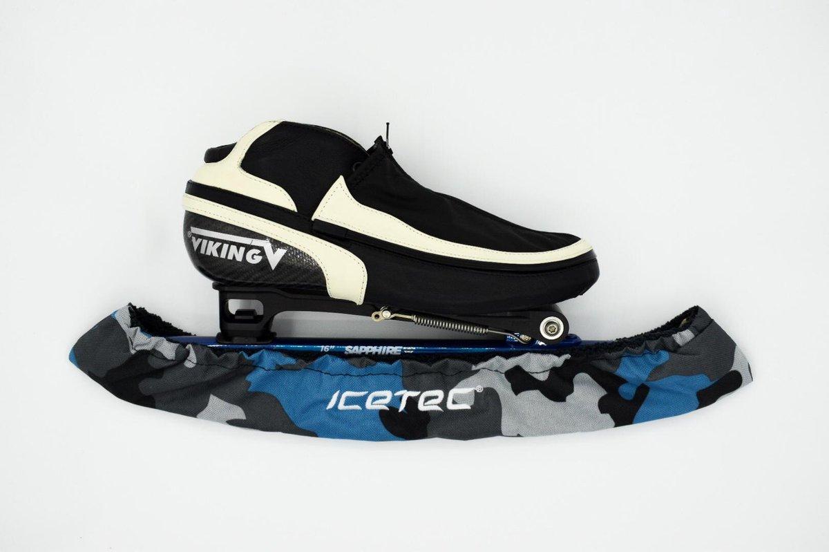 Icetec | Schaatshoezen - Camouflage Lichtblauw - Schaatsmaat 44-48