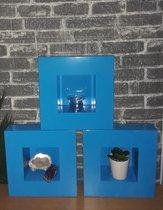 TeleBeni Decoratief wandkastje of plantenbakje 40x40cm set van 5