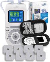 Kluvaro KRES100B Tens Apparaat - Elektrodentherapie Apparaat voor Spierstimulatie (EMS) en Pijnverlichting/Pijntherapie - Met 8 Extra Elektrodenpads - Inclusief bewaarhoes