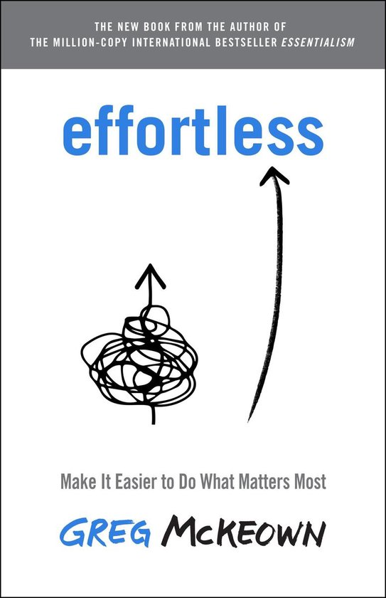 Boek cover Effortless van Greg McKeown (Hardcover)