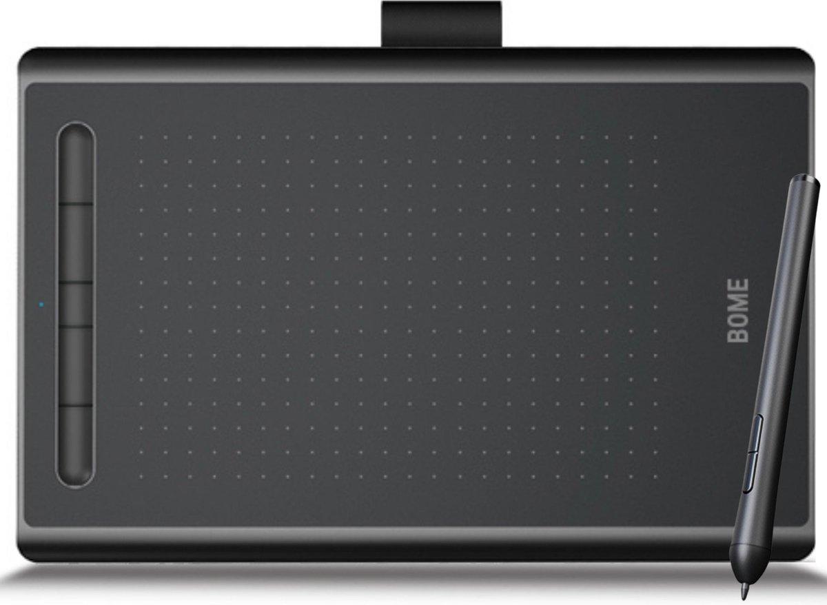 BOME Grafische Tekentablet met Bluetooth - Drawing Tablet - 5080 LPI - 135 x 90 mm - Draadloos