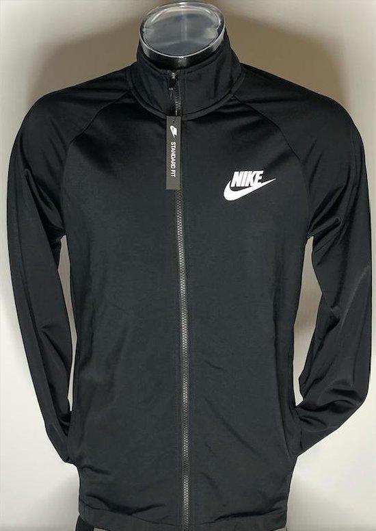 Nike Men's Basic Polyester Zip Tracksuit Top (Zwart) - Maat M