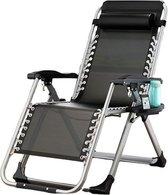 ligstoel tuin - ligstoelen - strandstoel opvouwbaar - tuinstoel - incl tafel en hoofdkussen