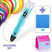 3D Pen - Inclusief 50 Meter Filament + 3D Tekenmat + Vingerbeschermers + 3D-Pen Houder + 10 Stencils - 3D Pen Starterspakket - Blauw