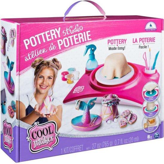 Cool Maker, pottenbakstudio, pottenbakkersschijf, voor kinderen vanaf 6 jaar (uitvoering wijkt mogelijk)