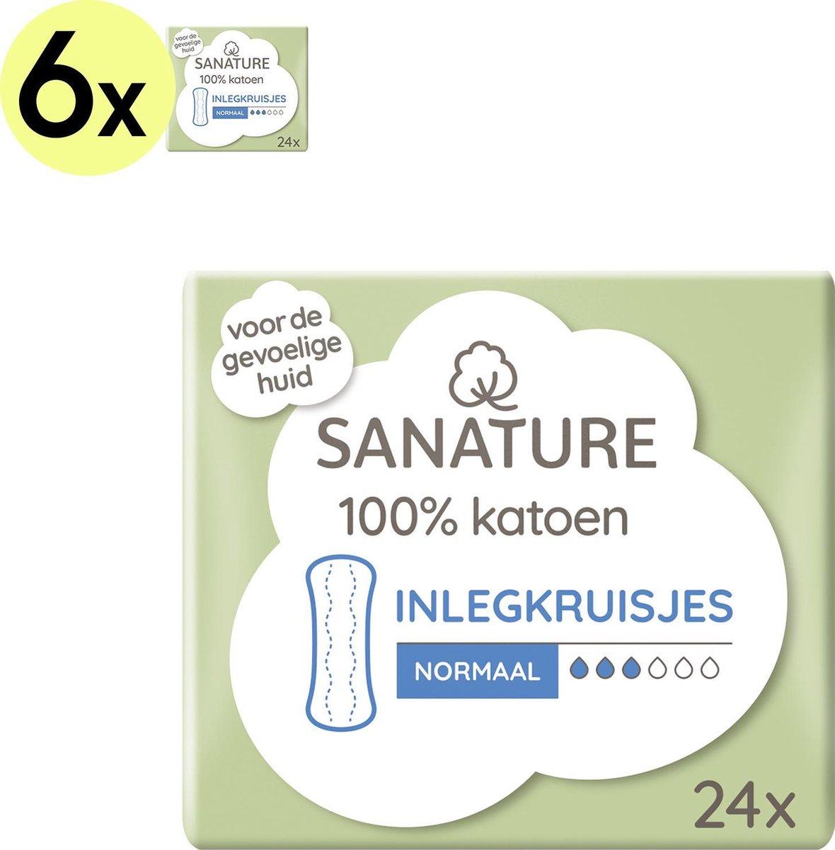 Sanature 100% Katoenen Inlegkruisjes Normaal 6 x 24 stuks