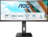 AOC CU34P2A - QHD Curved Ultrawide Monitor - 34 inch
