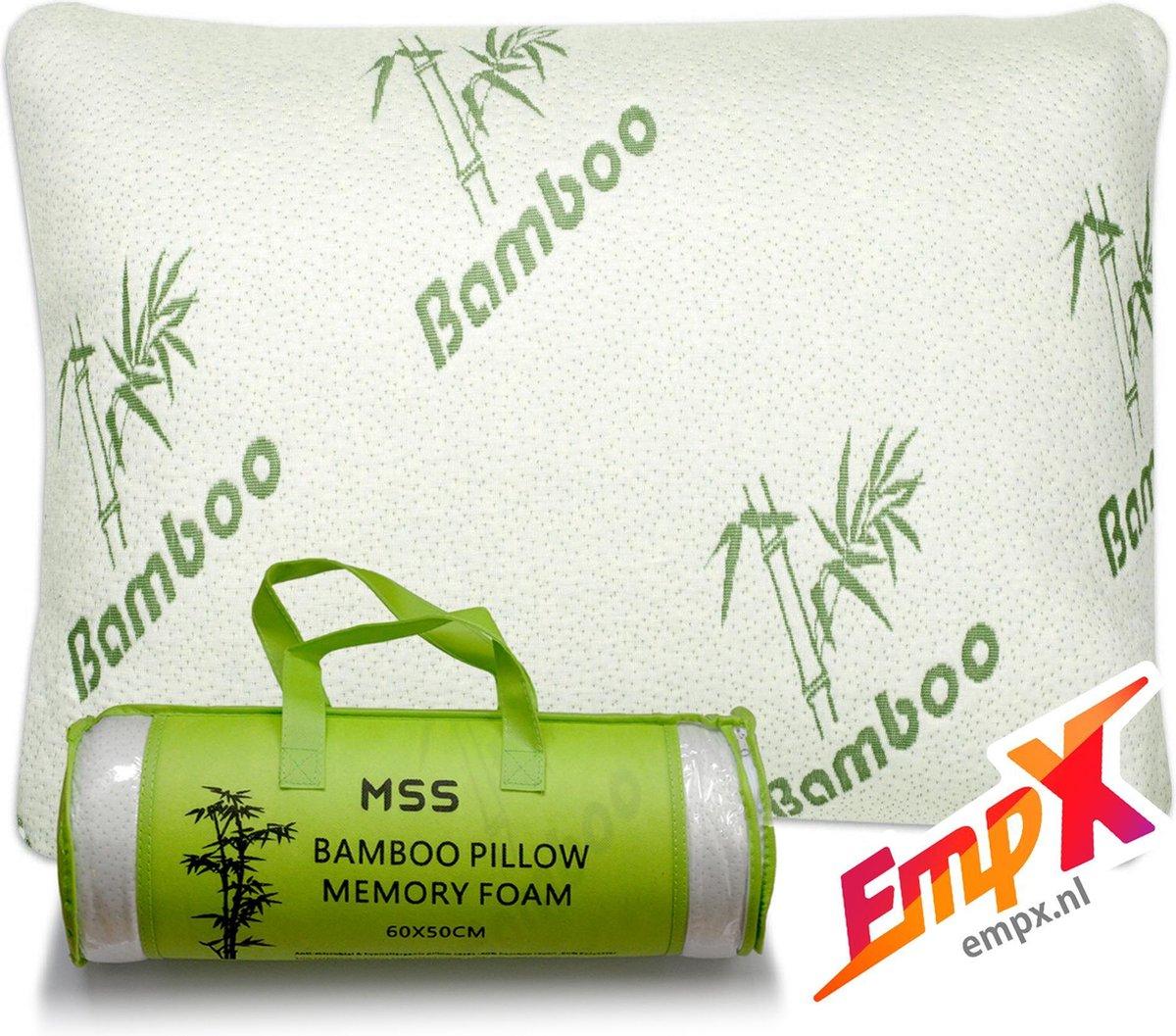 Bamboe kussen - MSS Bamboo Kussen - Origineel Bamboo Kussen - Cool Comfort - Memory Foam - Zacht, Ko