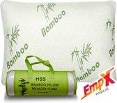 Bamboe kussen - MSS Bamboo Kussen - Origineel Bamboo Kussen - Cool Comfort - Memory Foam - Zacht, Koel & Drukverlagend - bamboo pillow