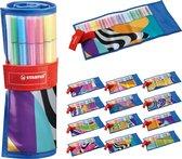 Afbeelding van STABILO Pen 68 - Premium Viltstift - Rollerset - Just Like You Edition - Set Met 25 Kleuren