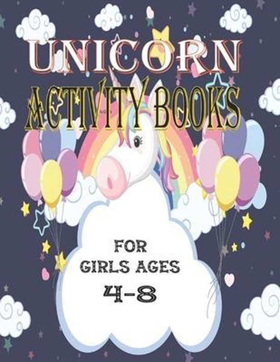 Unicorn Activity Books For Girls Ages 4-8