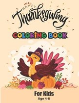happy thanksgiving coloring book for kids age 4-8
