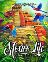 Mexico Life Coloring Book