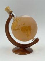 JMP Gifts® - Wereldbol / Globe - Fles - 0,75L - Glazen beeld - Decoratie - Cadeau - Gift - Wijnfles - Wijn - Sierstuk - Glaswerk - Moederdag - (WIT)
