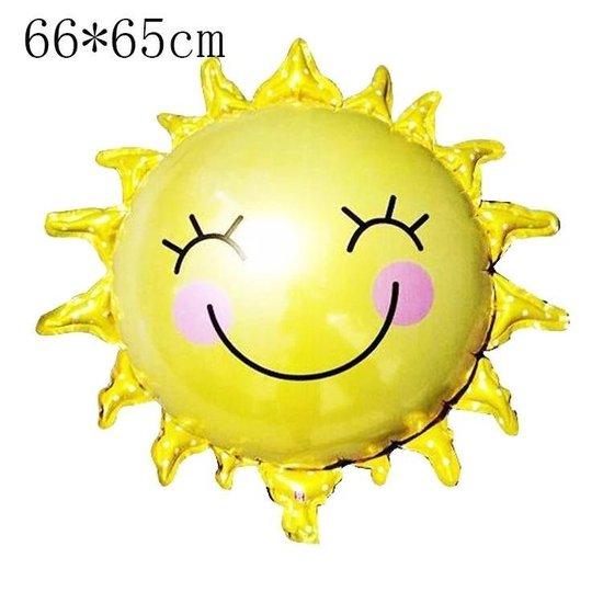 Ballon zon, zonneschijn, zonnestraal 66x65cm kindercrea