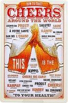 Wandbord - Cheers Around The World - Multi