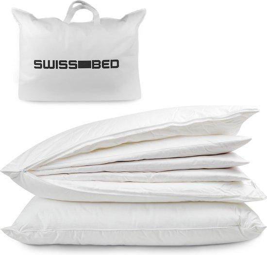 SWISS-BED - Dons hoofdkussen - kussens slaapkamer - voor hoofd, nek en schouders - tegen nekklachten - Donskussen 50x70
