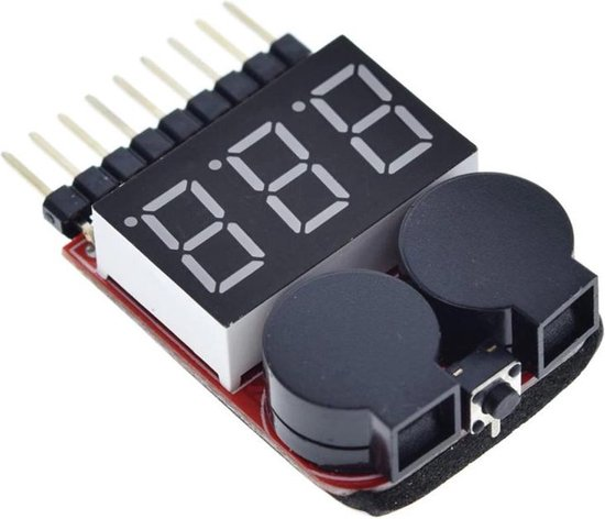 LIPO tester met alarm buzzer 1S t/m 8S