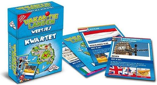 Vakantielanden Weetjes Kwartet - Kaartspel