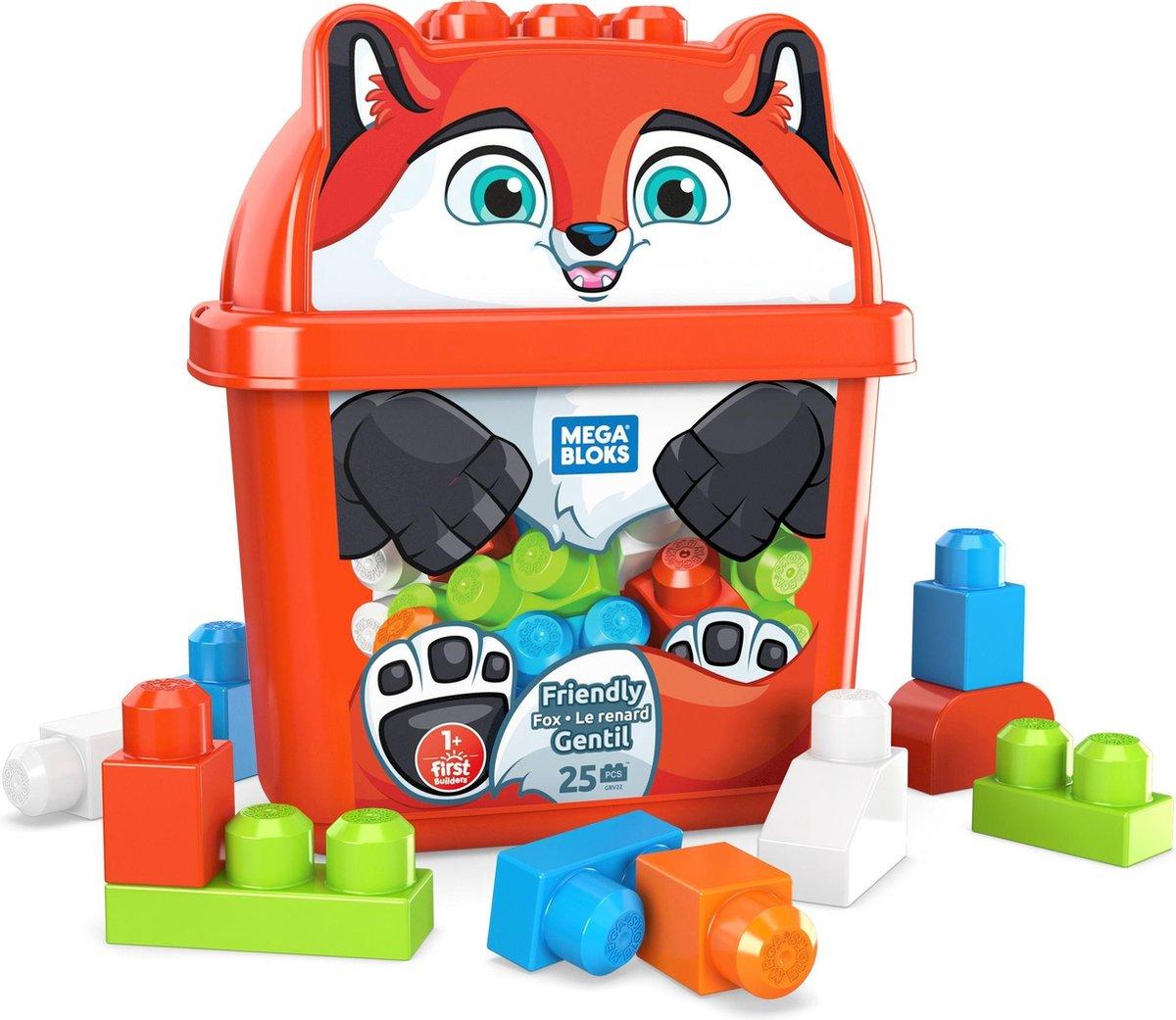 Fisher Price Mega Bloks - Vriendelijke Vos Box met Bouwblokken