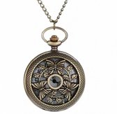 Ketting horloge- vlinders- brons- Charme Bijoux