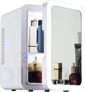 PIXMY - Skincare Fridge - 4L Inhoud - Mini Koelkast - Met Spiegel En Ledverlichting - Skincare Koelkast - Make Up Koelkast - PISCF21LED