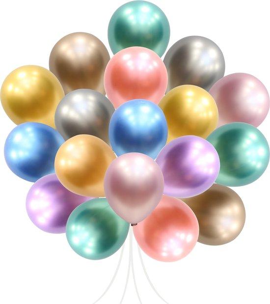 40 stuks Mix Luxe Chrome Metallic Ballonnen  (Gemenged Kleuren) MagieQ Feest|Party|Kinderfeesje|Decoratie|versiering|Kerst|oud en nieuw versiering 2021