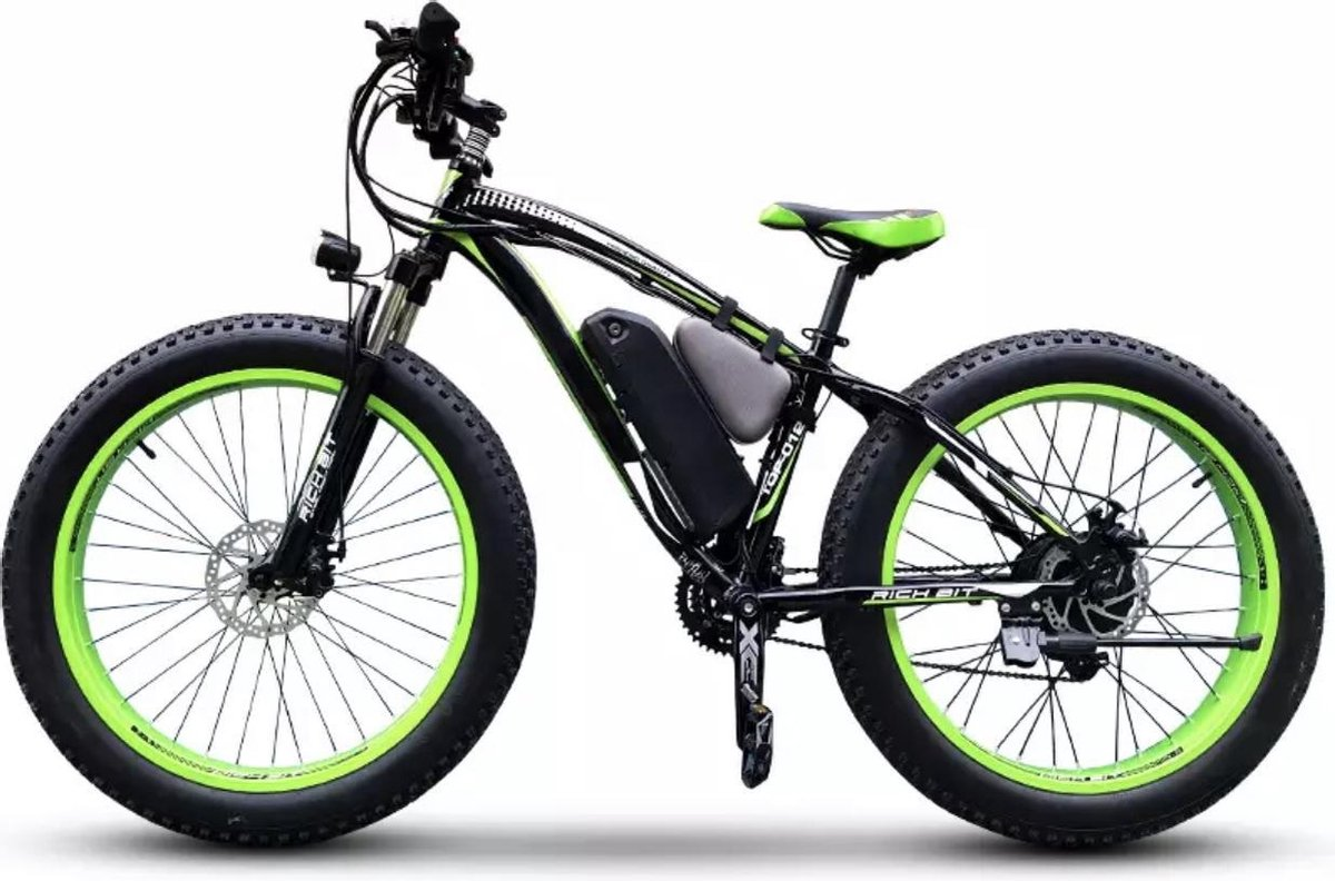 Elektrische Fiets - Fat Tire ebike 1000W lithiumbatterij - 26 Inch - Shimano 21 Speed heren