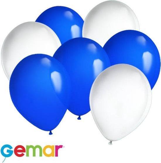 30x Ballonnen Israelische kleuren (Ook geschikt voor Helium)