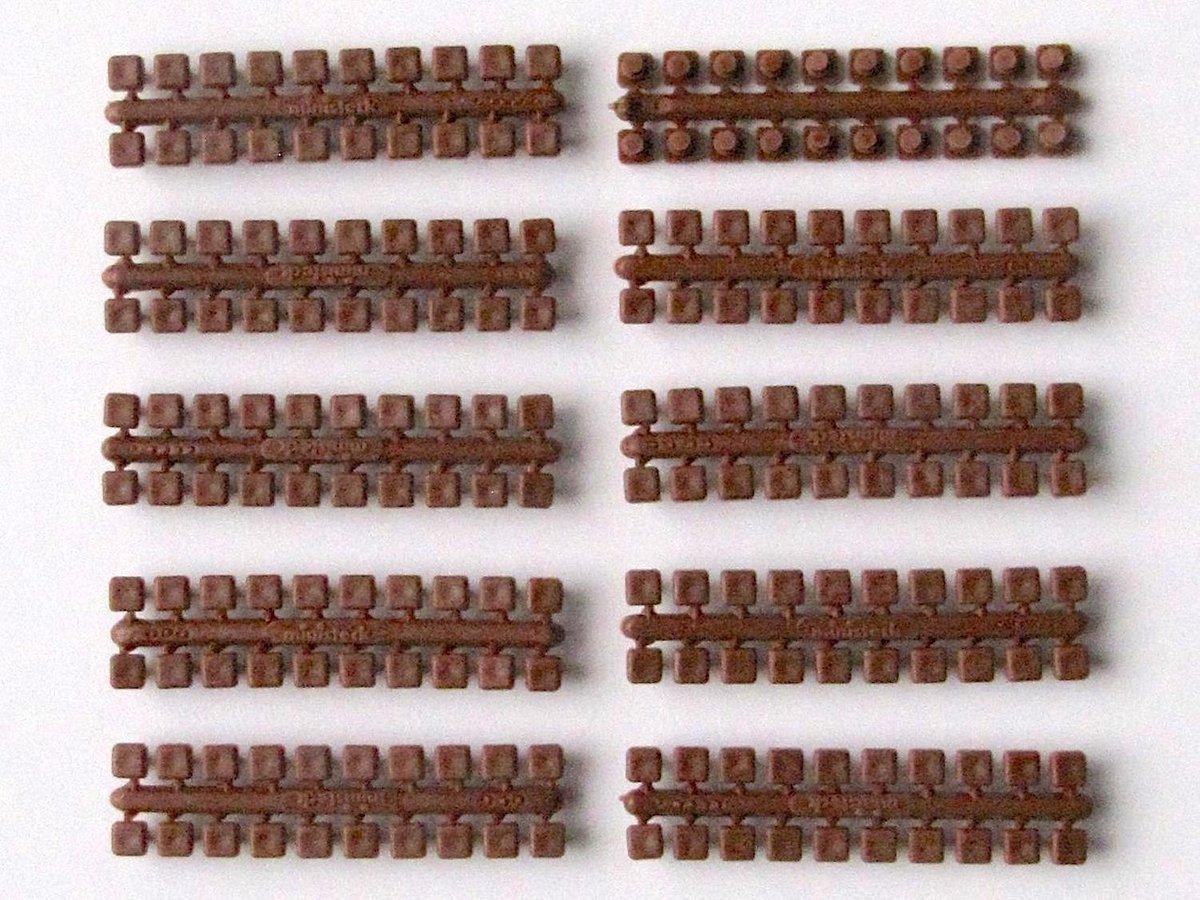 Ministeck: 10x 1 punt kleuren strips (donkerbruin)
