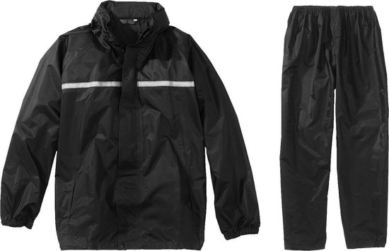 Greenlands Regenpak Basic Rainsuit Unisex - Zwart - Maat S