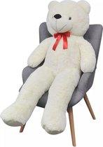 Grote  Knuffel Teddy beer Wit Pluche 100cm - Teddy bear Speelgoed - Teddybeer knuffels - Valentijn beertje