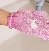 scrub/ massage/ douche handschoen