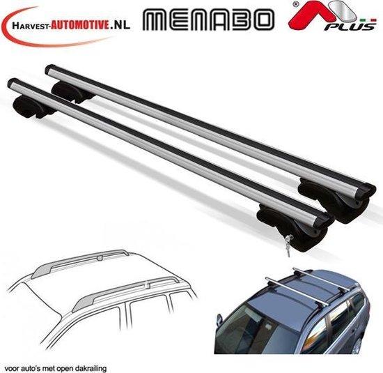 Menabo Dozer XL dakdragers (aluminium) Open Dakrails 135 cm