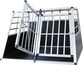4animalz aluminium autobench voor grote hond L - 104x90x69cm